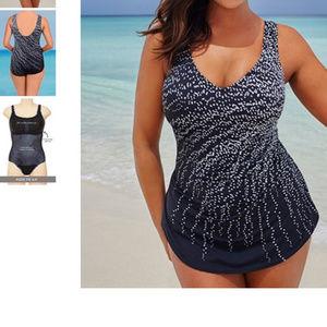 swimsuits for all dot print sarong skirted 1pc 20